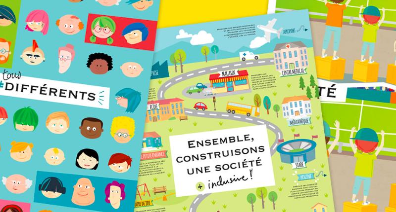 """Infographies """"Ensemble construisons une société plus inclusive"""""""