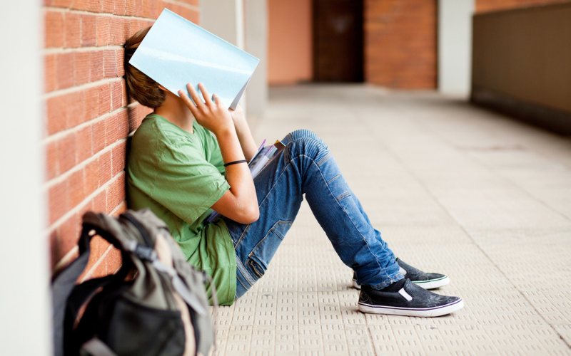 Un lycéen stressé