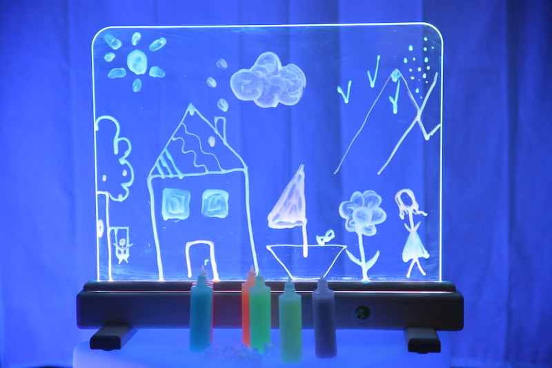 Peindre sur le chevalet magic light