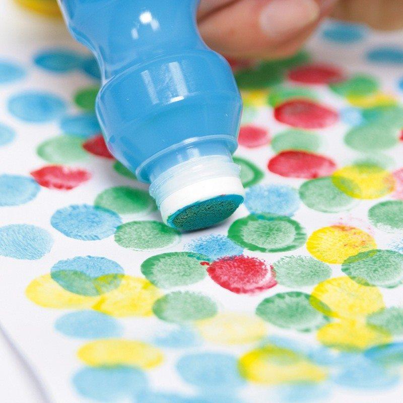 Activité peinture avec Spongy