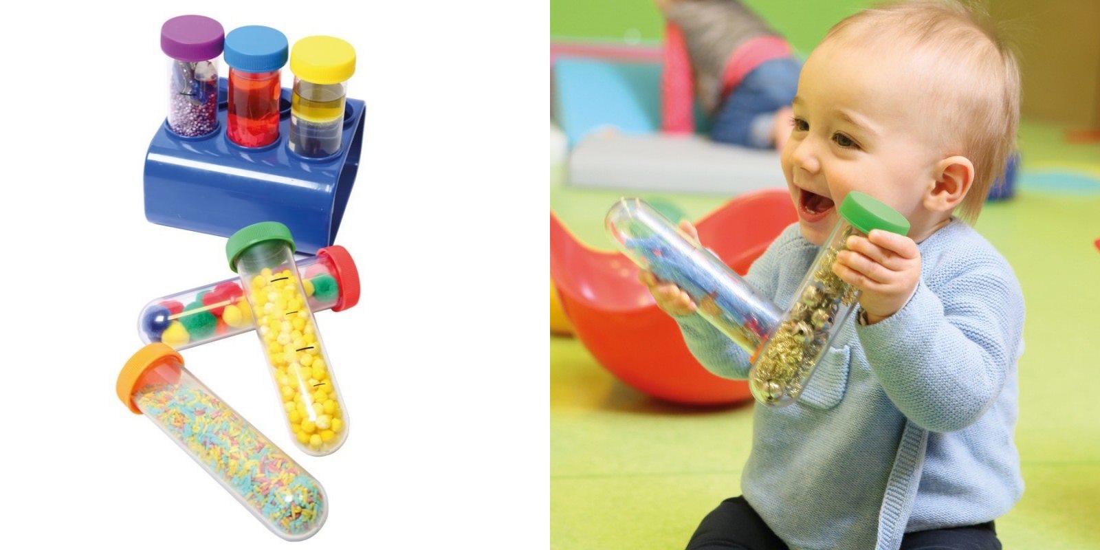 Les tubes sensoriels pour les tout-petits
