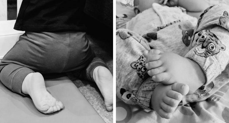 bébé pieds nus