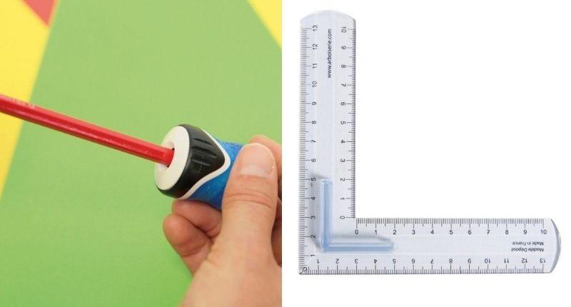 Un taille-crayon et l'eker gradué