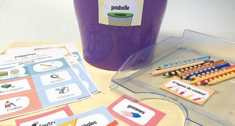étiquettes salle de classe pour la rentrée