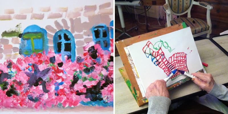 Peinture dans le cadre de l'art-thérapie