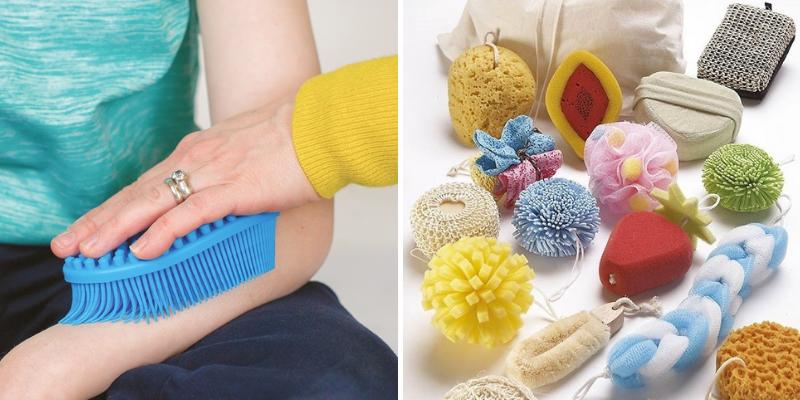 Des éponges et une brosse sensorielle pour appréhender l'hygiène corporelle