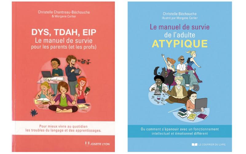 Les deux livres de Christelle Béchouche.