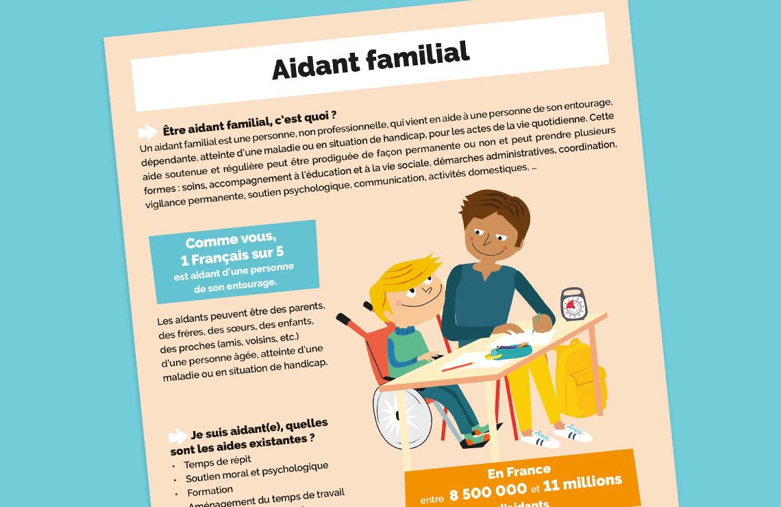 Infographie sur les aidants familiaux