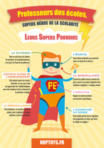 """Affiche """"professeurs des écoles supers héros"""""""